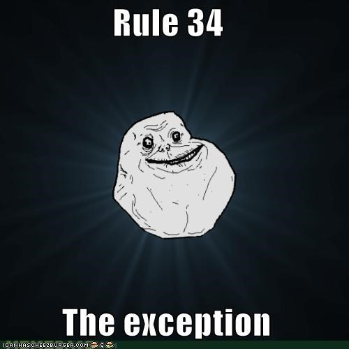 exceptions,forever alone,no,none,Rule 34