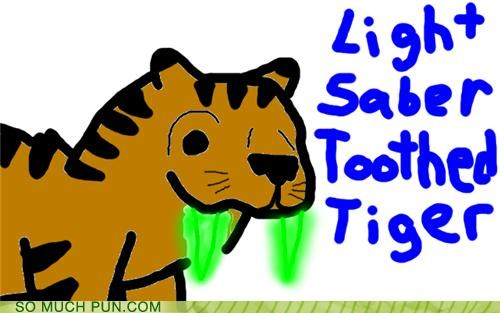 combination,lightsaber,literalism,sabertooth tiger,tiger