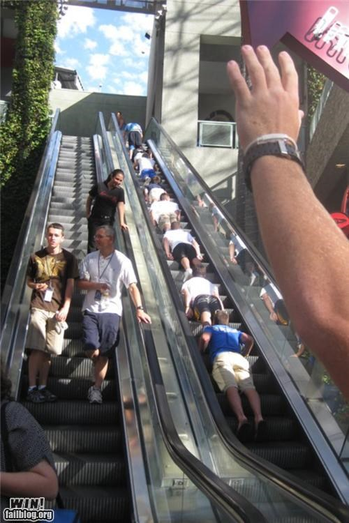 epic planking escalator meme Planking - 4925917440