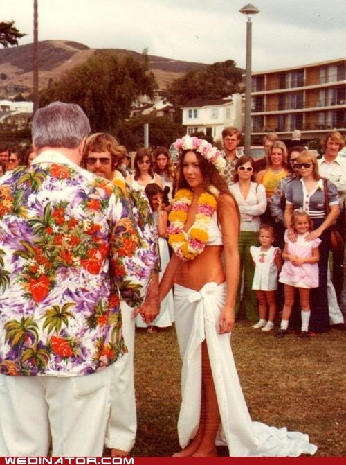 bride funny wedding photos Hawaii hawaiian wedding wedding - 4926007552