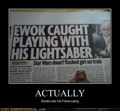 ewok,force,hilarious,lightsaber,star wars