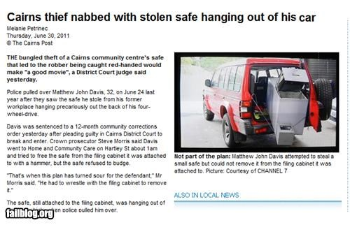 australia failboat g rated heist stupid criminals thief - 4927296256