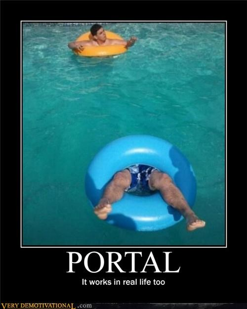 IRL pool Portal Pure Awesome video games
