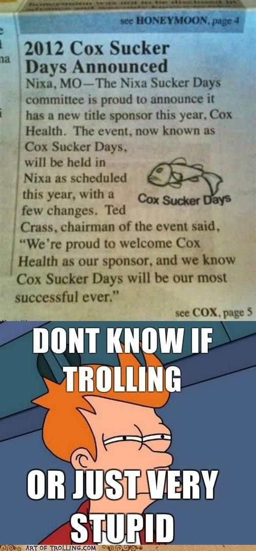 Cox Sucker Days