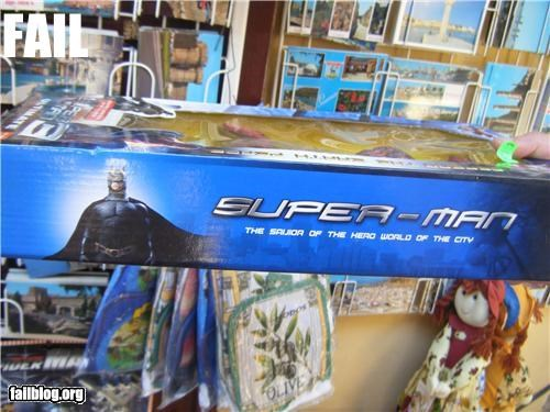 batman engrish failboat g rated superhero superman toys