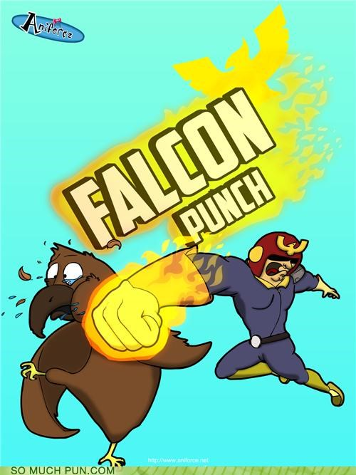 attack,captain falcon,falcon,falcon punch,inceptipun,literalism,move,super smash bros