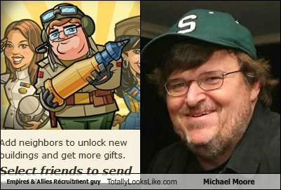 cartoons Empires and Allies film maker Michael Moore zynga - 4927824640