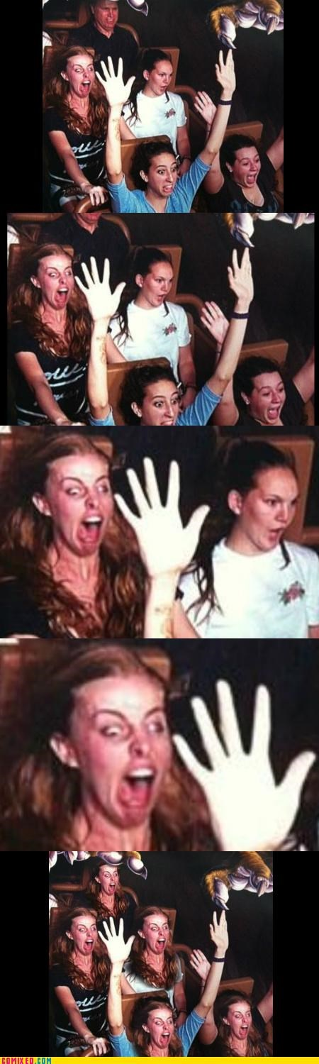 roller coaster scared Tenso terrible that face - 4928022272