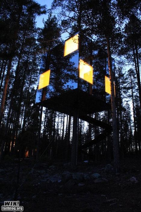 awesome design hotel treehouse trees woods