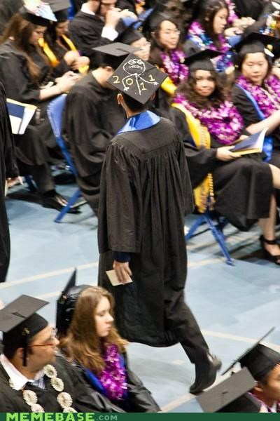 f yeah,graduation,hat,IRL,Memes