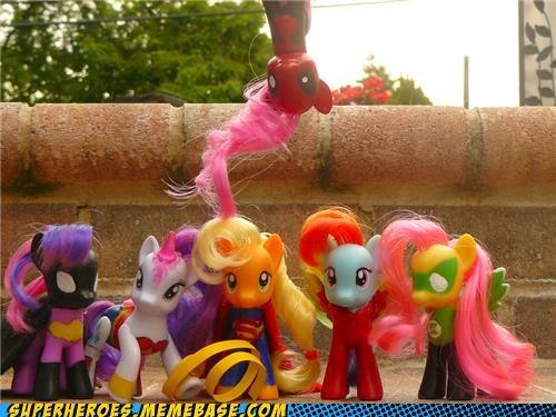 Bronies deadpool justice league Random Heroics toys - 4928632576