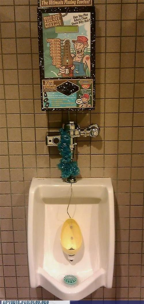 bathroom contest game urine