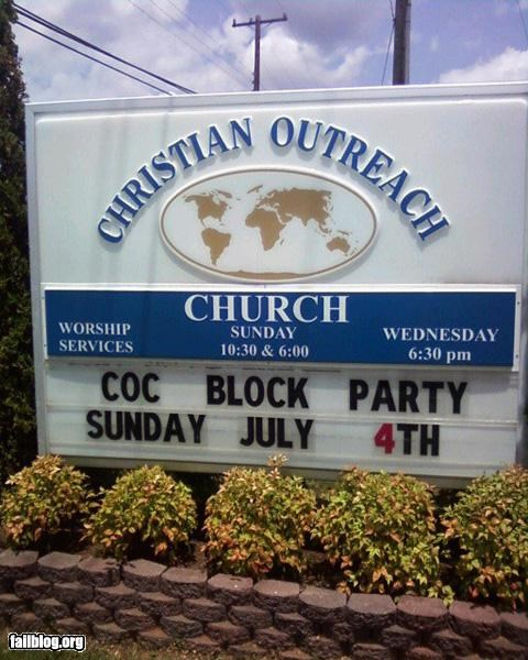 Church Sign innuendo oddly specific religion signs