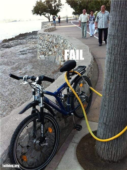 bike lock,failboat,g rated,safety,security,stupidity