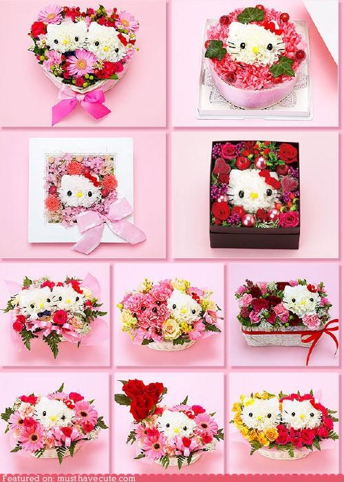 amazing,arrangement,flowers,gift,hello kitty