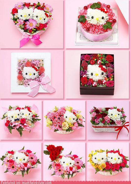 amazing arrangement flowers gift hello kitty - 4928830208