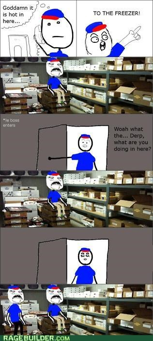 freezer,Rage Comics,summer,sweet jesus have mercy,work
