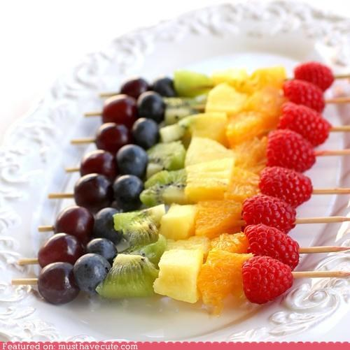 epicute,fruit,kebabs,rainbow,skewers