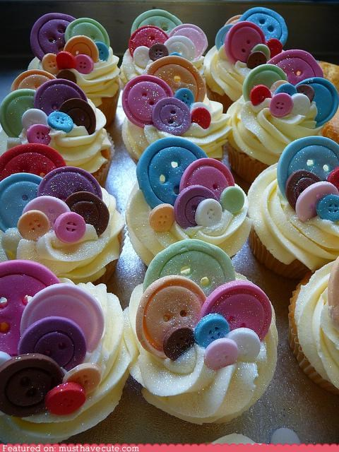 buttons,cupcake,epicute,fondant,frosting,glitter,sparkles