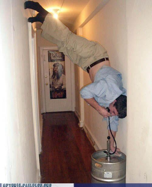 forever alone hallway kegstand - 4929866496