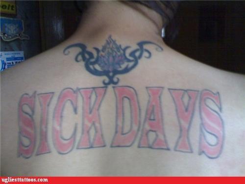 back tattoos sick days - 4929931008