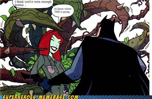 Awesome Art,batman,poison ivy,tentacles