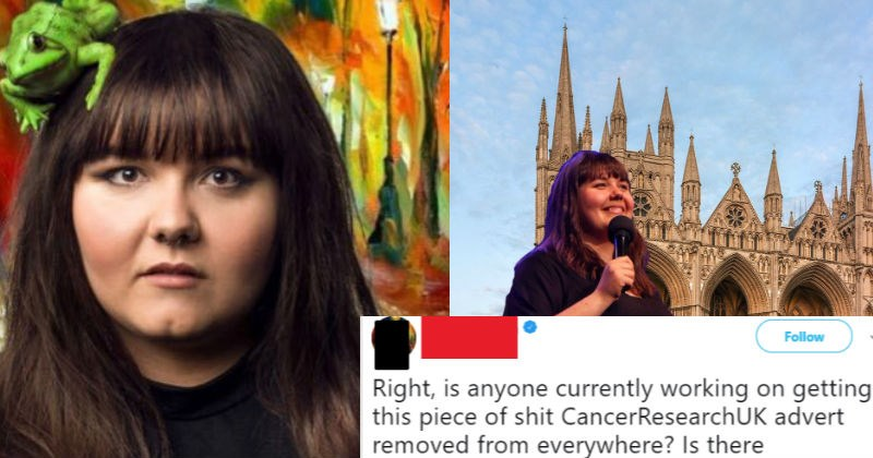 Crazy obese lady claims to know more about cancer than Cancer Research UK.