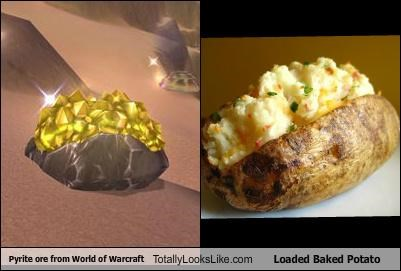 baked potato food pyrite ore video games world of warcraft
