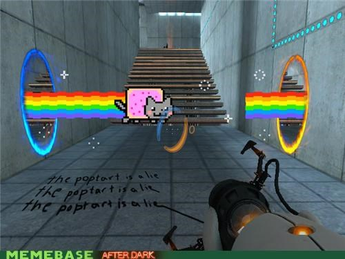 cake lie Nyan Cat poptart Portal video games - 4932180480