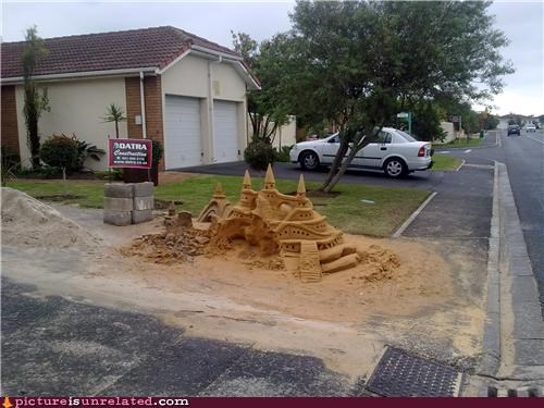 castle sand sculpture wtf