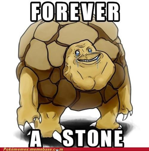 art,forever alone,golem,rage comic,rock