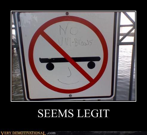 hilarious seems legit unibrow - 4933762816