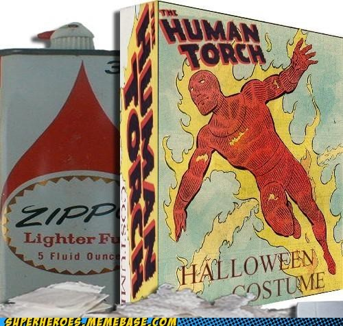 costume human torch lighter fluid Super Costume