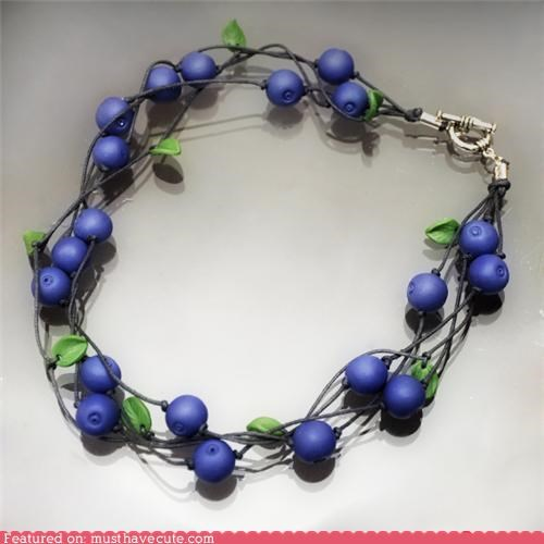 accessories blueberries Jewelry necklace - 4934320896