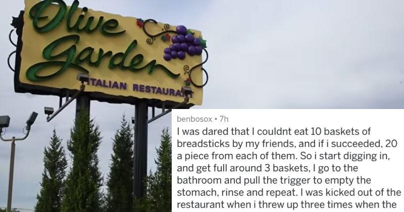 customer service askreddit olive garden ridiculous - 4934405