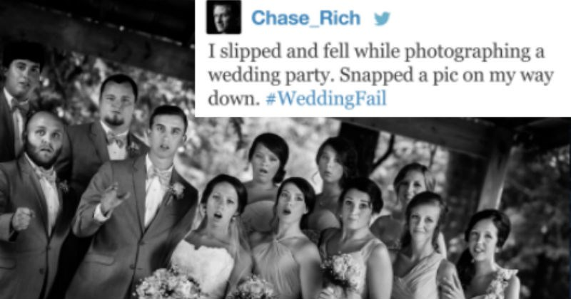 funny wedding fails