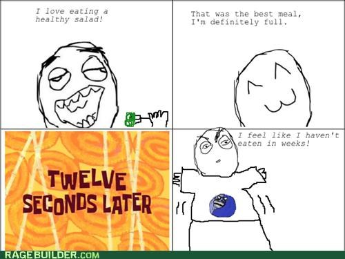full hungry i lied Rage Comics salad