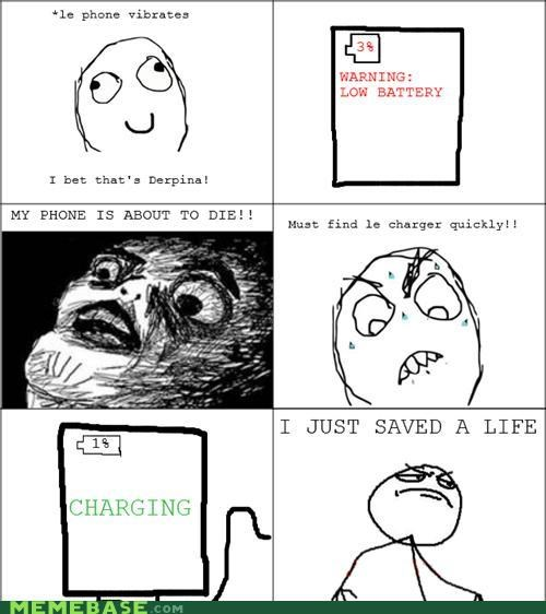 battery charging cpr phone Rage Comics - 4935239424
