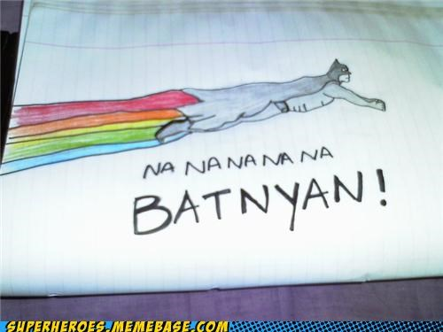 Awesome Art batman Nyan Cat - 4935395328