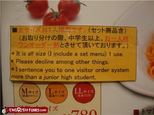 menu,restaurant,sentencing