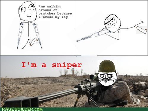 crutches me gusta Rage Comics sniper - 4935527680