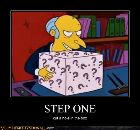 hilarious mr burns simpsons step one - 4935531520