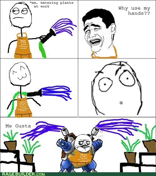 blastoise plants Pokémon Rage Comics watering - 4935736832