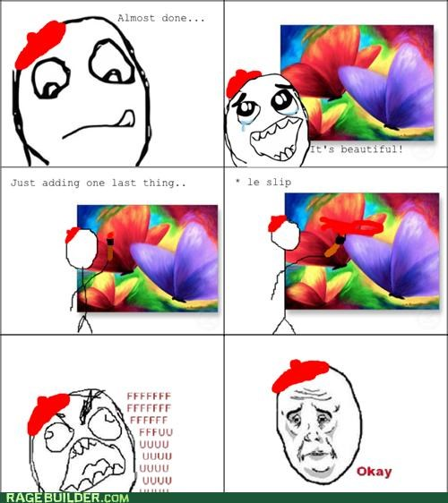art FAIL Okay Rage Comics Sad - 4935863552