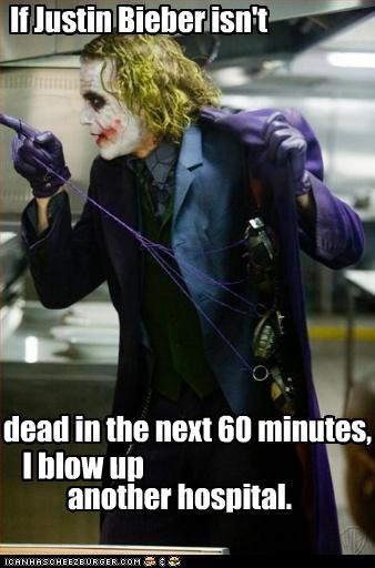 actor batman celeb funny heath ledger joker justin bieber - 4936246016