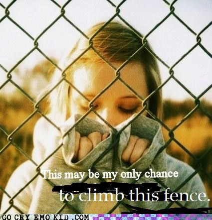 chance,climb,fence,weird kid