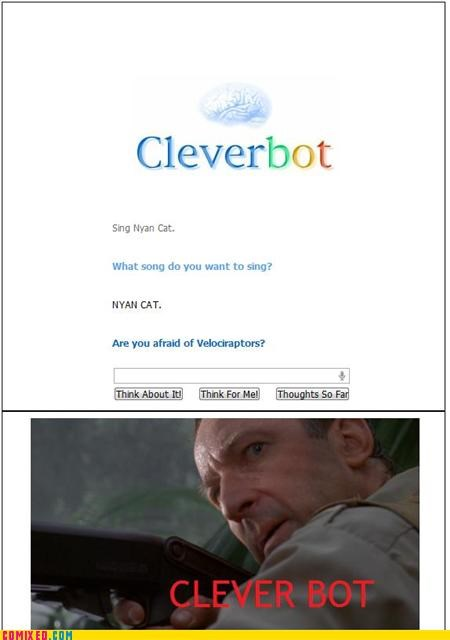 clever girl Cleverbot jurassic park the internets velociraptor - 4936605696