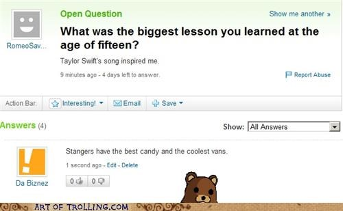 candy,fifteen,pedobear,van,Yahoo Answer Fails