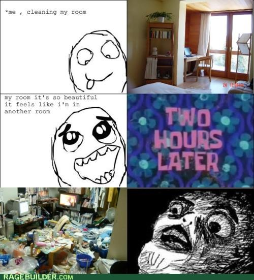 clean,mess,Rage Comics,room