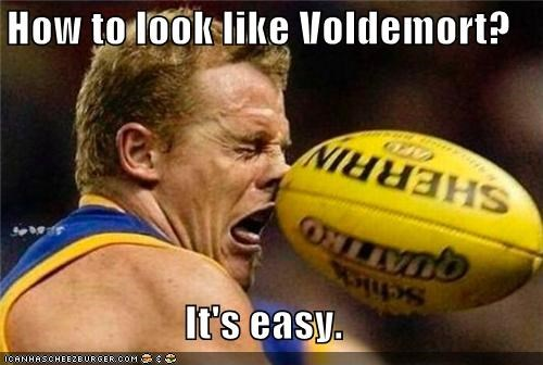 ball Harry Potter nose rugby Sportderps voldemort